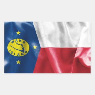 Rektangulär klistermärke för vaköflagga