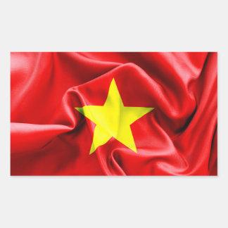 Rektangulär klistermärke för Vietnam flagga