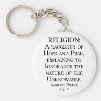Religion av Ambrose Bierce Rund Nyckelring