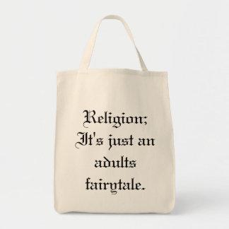 Religion;  Det är precis en vuxenfairytale. Tygkasse