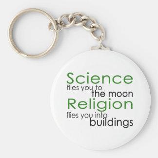 Religion och vetenskap rund nyckelring