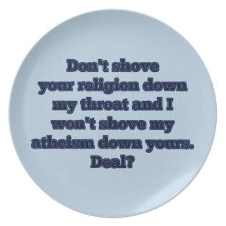 Religion VS. ateism, del 2 Tallrik