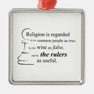Religionen är användbar julgransprydnad metall