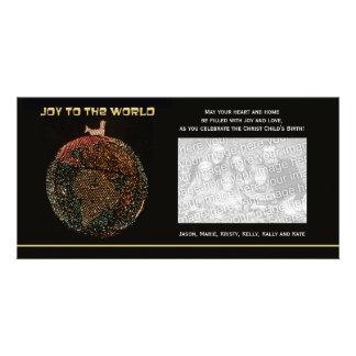 Religiös glädje för julfotokort till världen fotokort