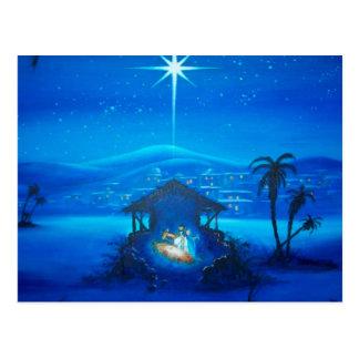 Religiös Nativityjulvykort Vykort