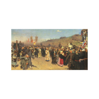 Religiös procession i det Kursk landskapet Canvastryck