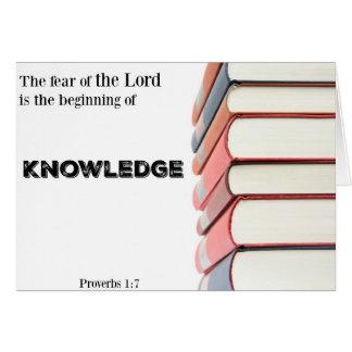 Religiös studentenKort-Början av kunskap Hälsningskort