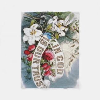 Religiös tänkande filt för blommadesignull