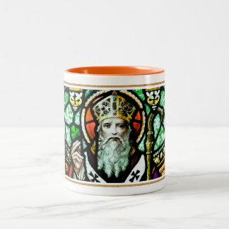 Religiösa gåvamuggar för saint patrick's day Två-Tonad mugg