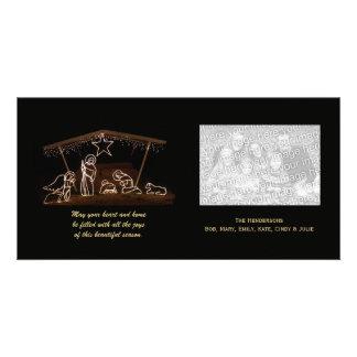 Religiöst kort för Nativityjulfoto