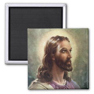 Religiöst porträtt för vintage, Jesus Kristus med Magnet