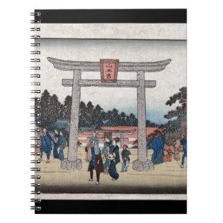 Relikskrin för serie II Sannō på Nagatanobaba Anteckningsbok Med Spiral