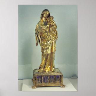 Reliquary av oskulden av Jeanne d'Evreux Poster