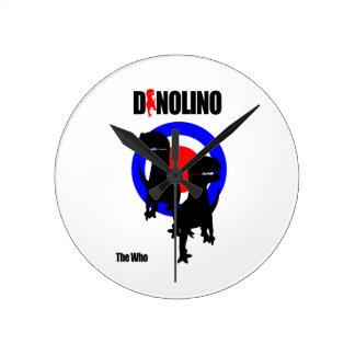 Relógio de Parede Dinolino Underground Relógios Para Pendurar