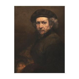 """Rembrandt affisch för självporträtt 15x20"""" canvastryck"""