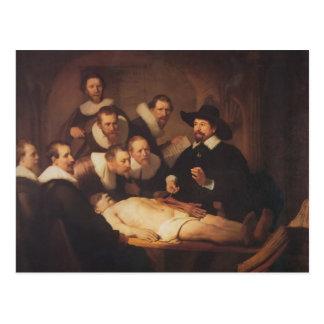 Rembrandt anatomikursen av Dr. Nicolaes Tulp Vykort