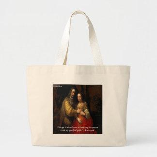 """Rembrandt """"den judiska bruden"""" & berömdt jumbo tygkasse"""