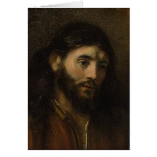 Rembrandt huvud av porträtt för Kristus CC0924 Hälsningskort
