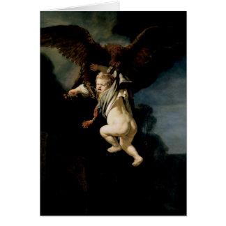 Rembrandt - kidnappningen av Ganymede - konst Hälsningskort