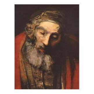 Rembrandt retur av den Prodigal sonen (fragmentet) Vykort