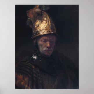 Rembrandt Van Rijn man med den guld- hjälmen Poster