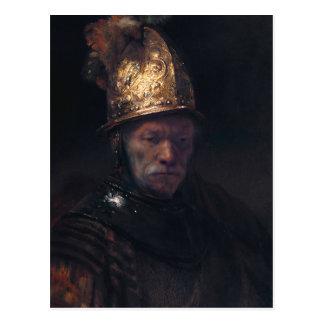Rembrandts man i en guld- hjälm vykort