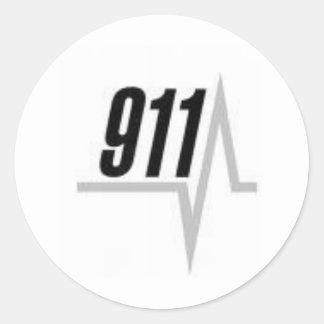 Remsa för 911 EKG Runt Klistermärke