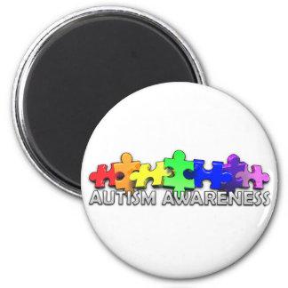 Remsa för Autismmedvetenhetpussel Kylskåpsnagnet