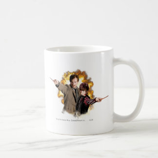 Remus Lupin och Nymphadora Tonks-Lupin Vit Mugg