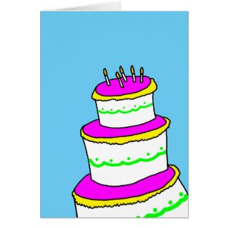 Ren enkel Minimalist grattis på födelsedagen Hälsningskort