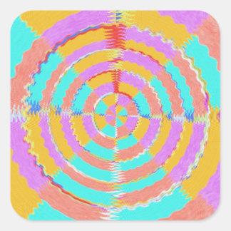 REN för VibesAura för energi 12 Spectrum för Fyrkantigt Klistermärke