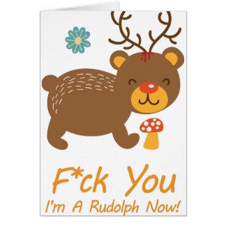 Ren för vild för Wellcoda Rudolf björn djur Hälsningskort