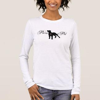 Ren gropkvinna tshirt för långärmad t-shirt