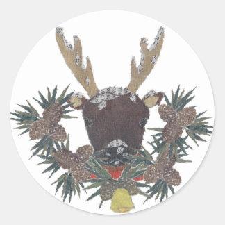 Ren helgdagar, jul som är nyckfull runt klistermärke