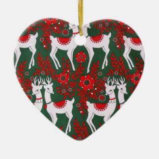 Ren Hjärtformad Julgransprydnad I Keramik