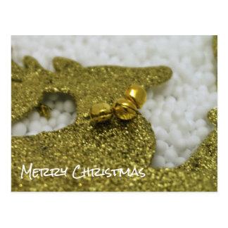 Ren i guld- glitter vykort