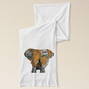 Ren Jersey för elefanttigerabstrakt Scarf Sjal 2fe266f12a76f