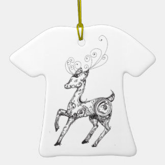 Ren T-Shirt Formad Julgransprydnad I Keramik