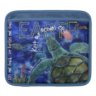 Ren konst för havhavssköldpadda sleeve för iPads
