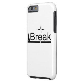 Ren och enkel svartvit avbrottsdesign tough iPhone 6 fodral