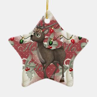 Ren och jul Klockor Stjärnformad Julgransprydnad I Keramik
