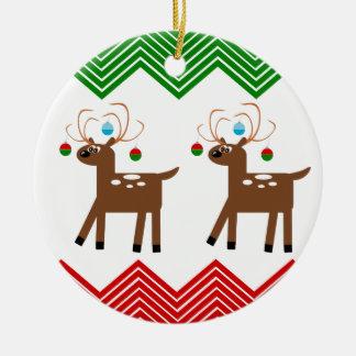 Ren som ha på sig julprydnadar jul dekorationer