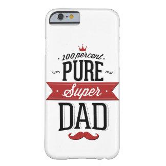 Ren toppen svart pappaMoustache som är röd och Barely There iPhone 6 Skal