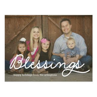 Ren vykort för kort för välsignelsehelgdagfoto