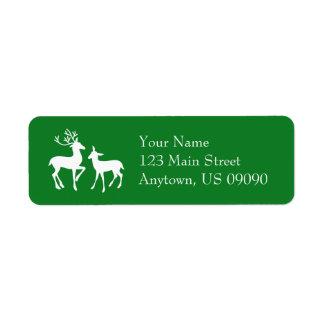 Renadressetiketter (grönt) returadress etikett