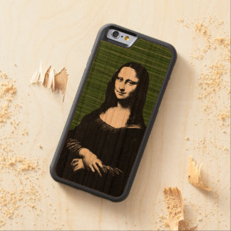 Renaissance för Mona lisa popkonst Carved Körsbär iPhone 6 Bumper Skal