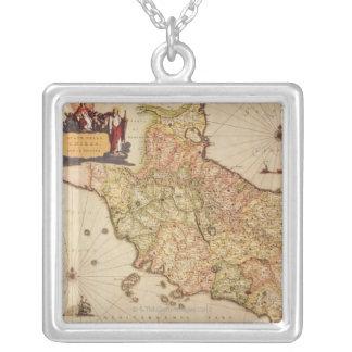 RenaissanceCartography Silverpläterat Halsband