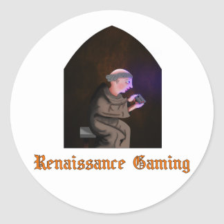Renaissancedobbelklistermärke Runt Klistermärke