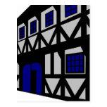Renaissancehuset - grå färg vykort