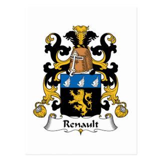 Renault familjvapensköld vykort